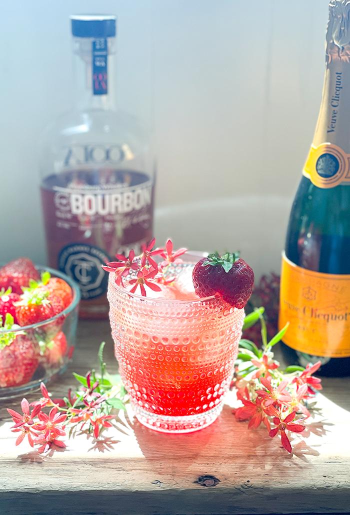 Bourbon Champagne Cooler