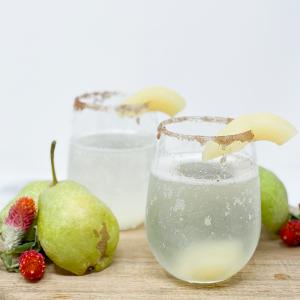 Vanilla Bean Pear Mimosa